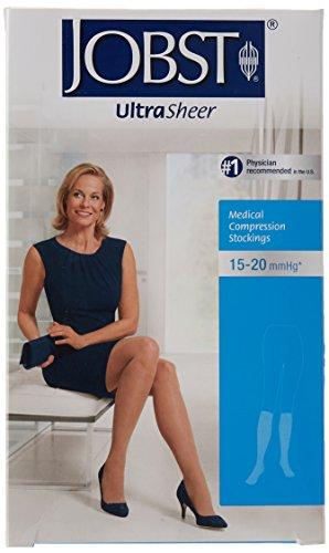 BSN Medical 119100 Jobst Compression Stocking, Knee High, Closed Toe, 15-20 mmHG, Small, Sun Bronze