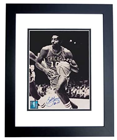 bob love autographed hand signed chicago bulls 8x10 photo black custom frame