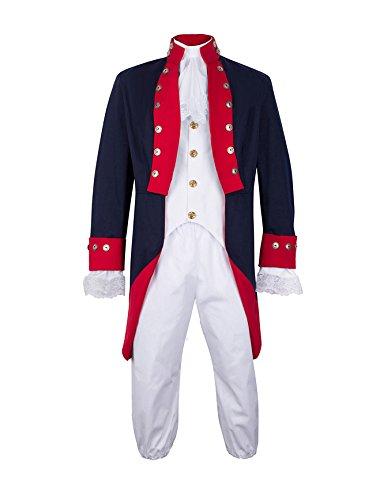 Unisex Adult American Revolution Soldier Revolutionary War Uniform XLarge Multi