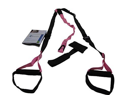 Slingtrainer inkl. Übungsposter, pink