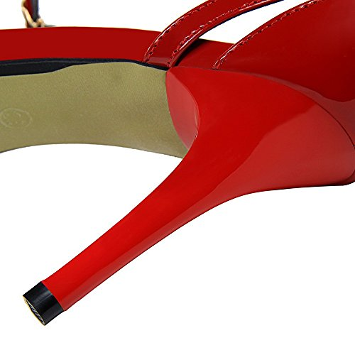 Sandali Alto Una Col Xiaoqi Sexy Un Americano E Sottile Con Temperamento Discoteca Parola Elegante Tacco Stile Semplice Scarpe Europeo Nero 0fAxWwz