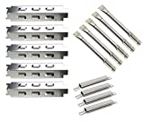 6 burners gas grill - Relishfire Grill Stainless Steel Burner&Heat Plate and Porcelain Steel Crossover tubes, Replacement for Charbroil 6 Burner Gas Grill