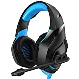 RUNMUS Gaming Headset PS4 Headset with 7.1 Surround Sound Stereo, Xbox One Headset with Noise Canceling Mic, Compatible with PC, PS4, Xbox One Controller(Adapter Needed), NS