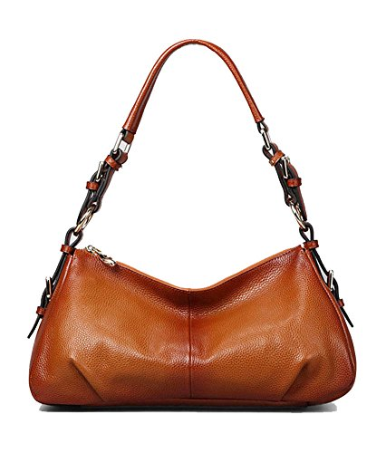 (Kattee Ladies' Vintage Leather Hobo Shoulder Handbag Sorrel)
