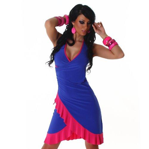 Bella Halter Dress (JELA London Women's Halter Dress One Size Royal)