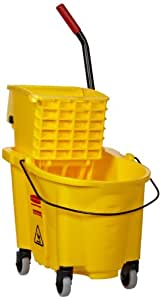 Rubbermaid® Commercial Wavebrake 26-Quart Side Press Mop Bucket & Wringer Combo, Yellow