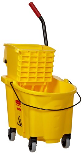 Rubbermaid 26-Quart Side Press Mop Bucket & Wringer Combo Yellow (Rubbermaid Side Press Wringer compare prices)