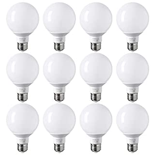 TORCHSTAR 12-Pack G25 Globe led Bulb, Vanity Light, 5W (40W Eqv.), UL-Listed, Daylight 5000K for Makeup Mirror, Pendant, Bathroom, Dressing Room, 3-Year Warranty