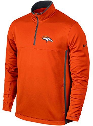 Nike NFL Denver Broncos Therma-Fit Cover-Up (Orange, S)