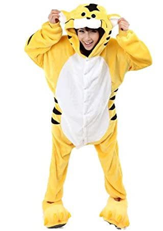 d2d561f8d Adult Animal Tiger Sleepsuit Pyjamas Costume Cosplay Unicorn Onesie Carters  Catsuit (L): Amazon.co.uk: Health & Personal Care