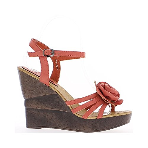 Fiore di donne Cuneo rosso sandali tacco 12cm