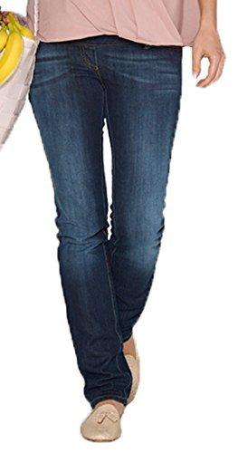 CHRISTOFF Maternité Jeans de maternité Femmes de maternité Pantalons Jeans Droit - Bleu (bluewash), 38 (Herstellergröße: 38/32)