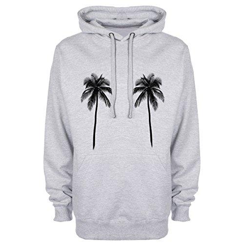 Black Palm Trees Hoodie - Grey - Medium (40 inches)