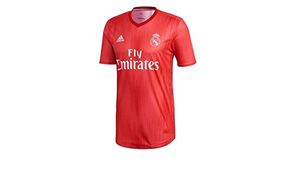 adidas Camiseta Real Madrid Tercera Equipación Authentic 2018-2019 Real Coral-Vivid Red: Amazon.es: Deportes y aire libre