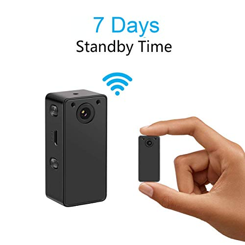 Hidden Spy Camera Wake Up by APP - Wireless Mini Camera Ideal for Multiple Covert Applications, Nanny Cam- WiFi Camera P.I.R Motion Detection iOS&Android Devices- Night Vision & 7 Days Standby Time