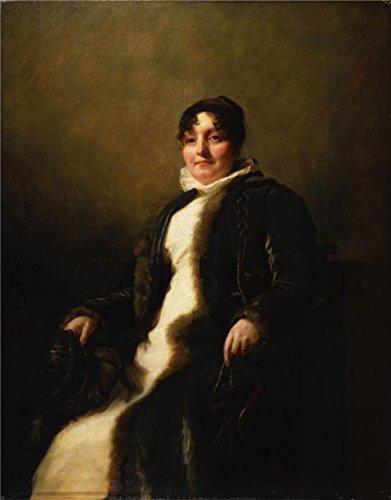 Sir Henry Raeburn–夫人James Cruikshank  1805–08`油絵、18x 23インチ/ 46x 58cm、の印刷ポリエステルキャンバス、この素晴らしいアート装飾プリントキャンバスis forロビー装飾、ホームとギフトにピッタリの商品画像