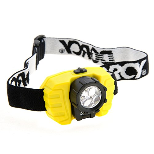 Dorcy 28-Lumen LED Headlight with Swivel Panel with Adjustable Strap, Yellow (41-2099) (Mwave Headlight 3 Led)
