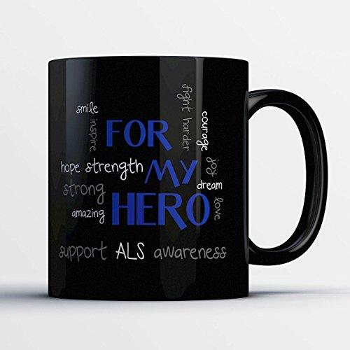 Lymphoma Ceramic Travel Mug (Awareness Mug- ALS Awareness)