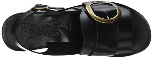 Fly London Women's Yidi190fly Open Toe Sandals Black (Black) AgeCzQGO