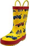 NORTY Boys Race Car Print Waterproof Rainboot, Yellow, Red 40150-11MUSLittleKid