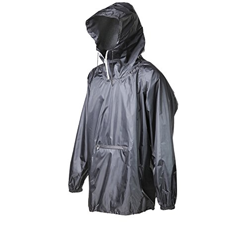(4ucycling Raincoat Easy Carry Wind Rain Jacket Poncho Coat Outdoor,Black one Size,Updated Version)
