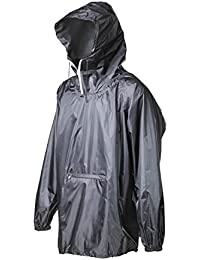 Raincoat Easy Carry Wind Rain Jacket Poncho Coat Outdoor,Black one Size,Updated Version