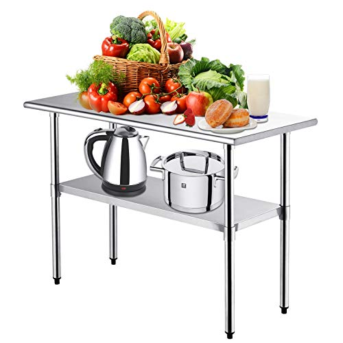 Kitchen Work Table Nurxiovo Stainless Steel Kitchen Prep Food Commercial Grade Metal Scratch Resistent And Antirust Work Table Workbench With Adjustable Table Toot 36 X 24 Inches Pricepulse