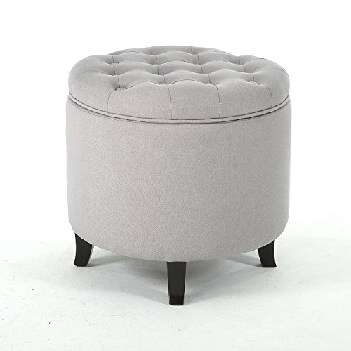 Phenomenal Amazon Com Storage Ottoman Seat Nailhead Trim Large Round Bralicious Painted Fabric Chair Ideas Braliciousco