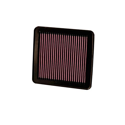 - K&N engine air filter, washable and reusable:  2013-2016 Dodge Dart 33-2491