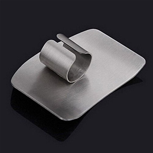 2 Pack Finger Guard For Cutting Stainless Steel Safe Slice Knife Guard Slicing Cutting Protector Finger Hand Protector Guard by Genenic (Image #4)