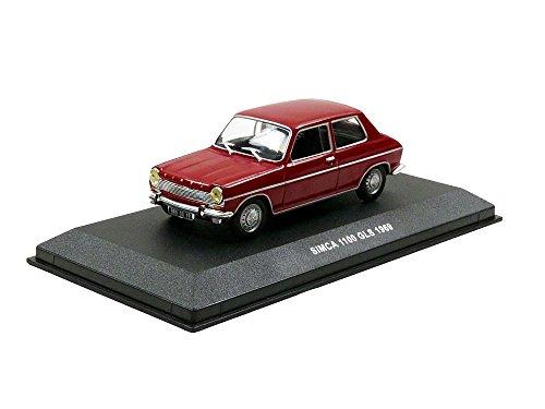 シムカ1100GLS、ダークレッド  1969  Model Car   Ready - made   Solido 1: 43の商品画像