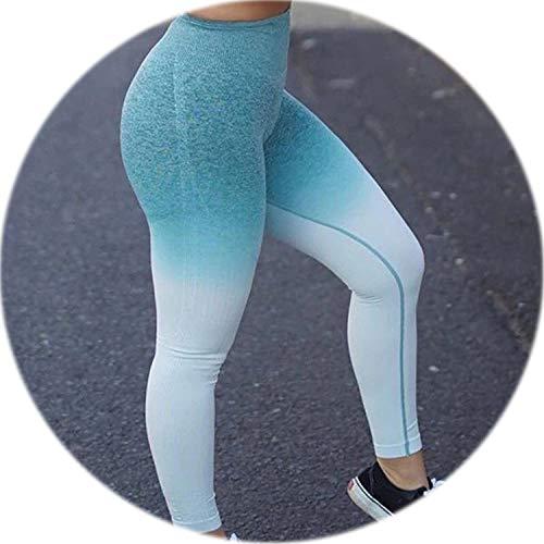 SHILINWEI Leggings Push Up Fashion Pants High Waist Workout Athleisure Training Jogging,Green,L