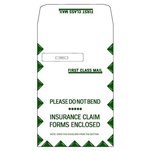 UB-04 9'' x 12-1/2'' Hospital Claim Form Jumbo Left Window Envelope (500/case)