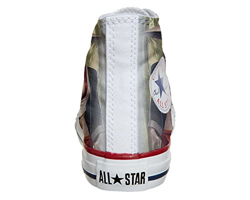 CONVERSE personalizzate All Star Sneaker unisex (Prodotto Artigianale) Geisha style