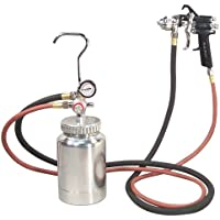 $134 » Astro Pneumatic Tool 2PG7S 2 Quart Pressure Pot with Gun and Hose - Black Handle - 1.2mm Nozzle