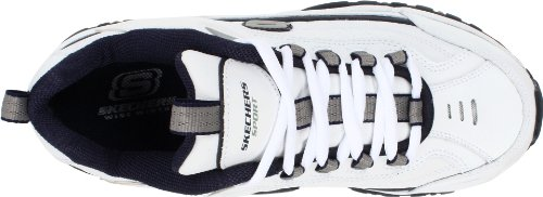 Skechers Sport Men's Energy Afterburn Lace-Up Sneaker,XWhite/Navy,9.5 XW US