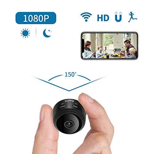 Mini Spy Camera WiFi HD Hidden Camera Wireless 1080P Portable Small Nanny Cams and Hidden Cop Cameras with Cellphone App/Night Vision/Motion Activated for Home/Baby/Pet
