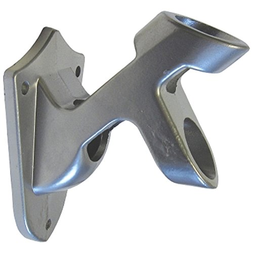 World Flags Direct Multi-Purpose Silver Aluminum Flag Pole Bracket; Two Position Flag Mount; Displays and Holds Pole at a 45° Angle or a Horizontal Position. Perfect for 1