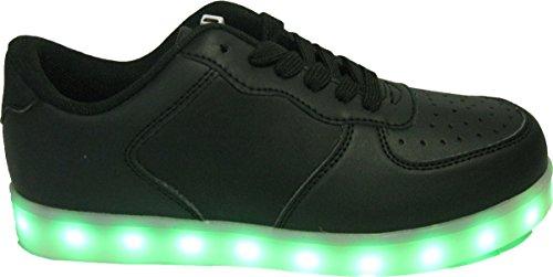 Baskets LED noires pour grandes pointures