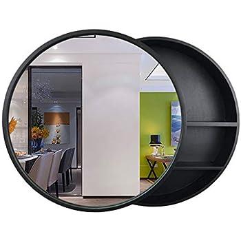 Amazon.com: Round Bathroom Mirror Cabinet, Bathroom Wall ...