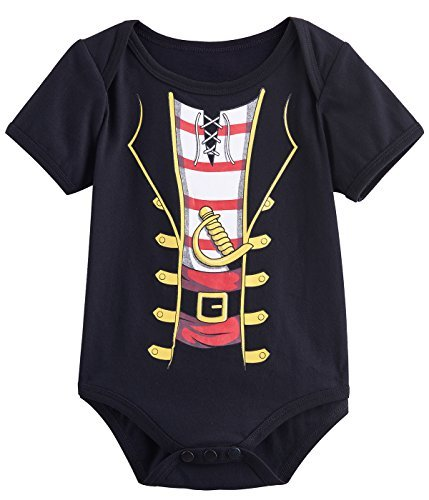 Mombebe Baby Boys' Halloween Custome Pirate Bodysuit