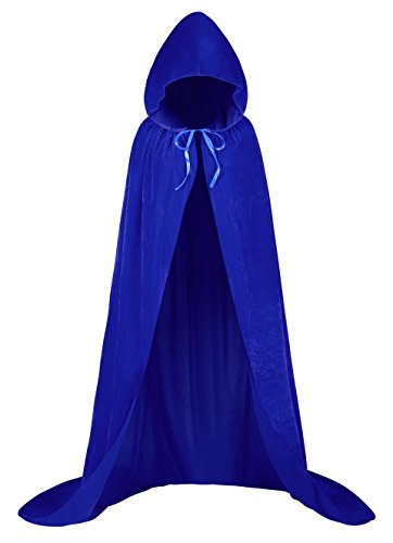 MIGOHI Unisex Christmas Cloak Santa Cluas Cape Halloween Full Length Hooded Cloak Cosplay Dress -