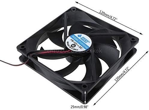 120x120x25mm DC 12V 0.15A Dual 4 Pin 9-Blade Computer Case Cooling Fan 12025 D28 ping V2AMZ