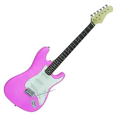Dimavery 26211052 ST-203 - Guitarra eléctrica rosa: Amazon.es: Instrumentos musicales