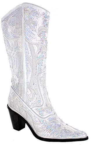 Helens Heart Bling Boots (8, Silver)