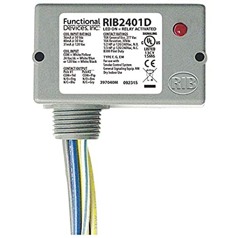 functional devices rib2401d enclosed pilot relay 10 amp dpdt with rh amazon com