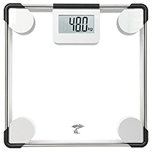 ToiletTree Products Precision Digital Clear Glass Bathroom Scale, 400 lbs Capacity, Lifetime Guarantee