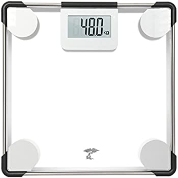 Toilettree Products Precision Digital Clear Glass Bathroom Scale 400 Lbs Capacity