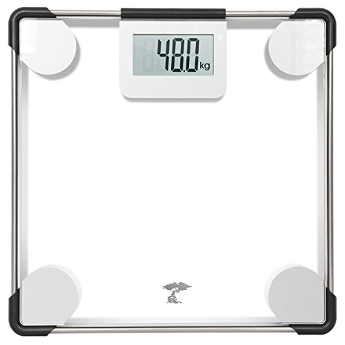 ToiletTree Products Precision Digital Clear Glass Bathroom Scale, 400 lbs Capacity, Lifetime Guarantee by ToiletTree Products
