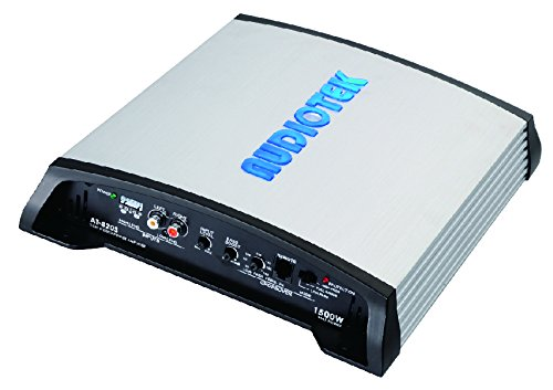 (AUDIOTEK AT820S 2 Channels Class AB 2 OHM Stable 1500W Stereo Power CAR Amplifier W/Bass Control)